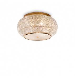 Plafon Pasha PL6 100807 Ideal Lux kryształowa oprawa w stylu klasycznym