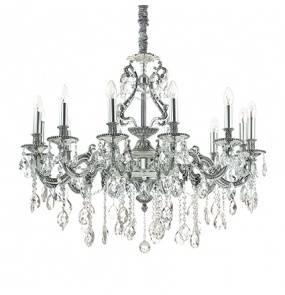 Lampa wisząca Gioconda SP12 164953 Ideal Lux klasyczna oprawa w kolorze srebrnym
