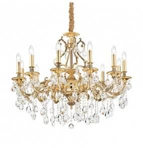 Lampa wisząca Gioconda SP12 164960 Ideal Lux klasyczna oprawa w kolorze złotym