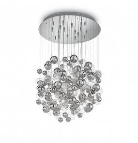 Lampa wisząca Bollicine SP14 093024 Ideal Lux chromowana oprawa w nowoczesnym stylu