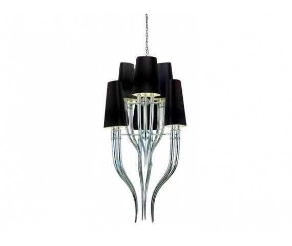 Lampa wisząca Diablo 3+3 AZ1417 AZzardo nowoczesna oprawa w kolorze czarnym