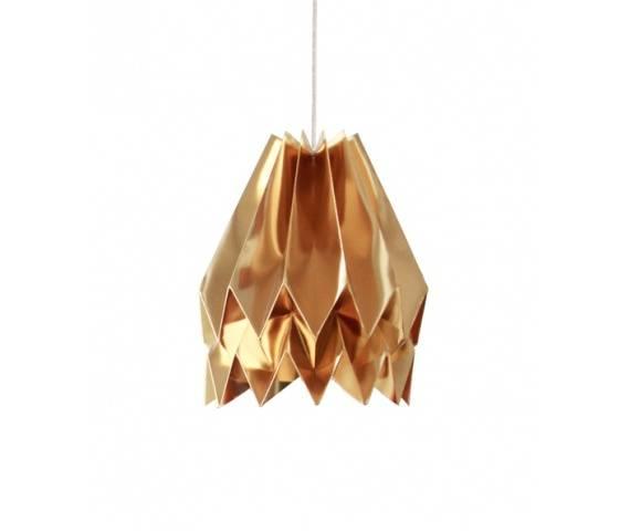 Lampa wisząca Plain Warm Gold Orikomi złota oprawa w dekoracyjnym stylu