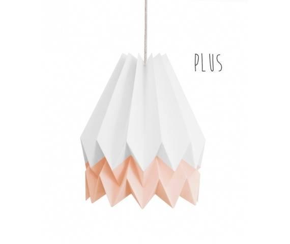 Lampa wisząca Plus Polar White/Pastel Pink Orikomi biało-różowa oprawa w dekoracyjnym stylu