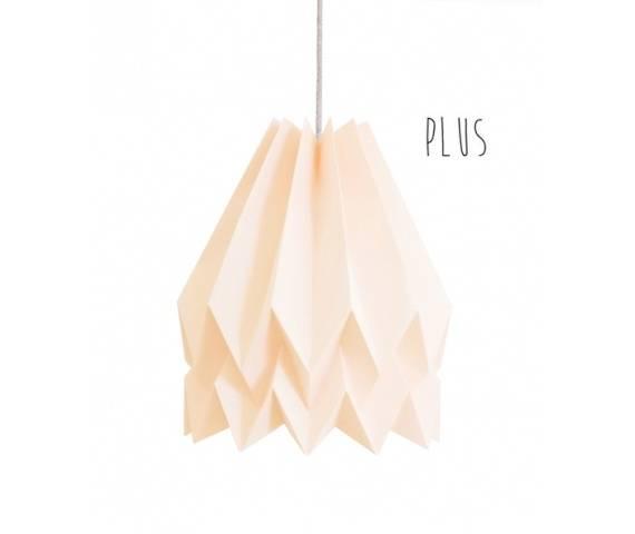 Lampa wisząca Plus Pastel Pink Orikomi różowa oprawa w dekoracyjnym stylu