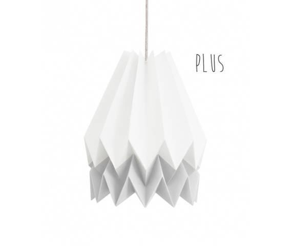 Lampa wisząca Plus Polar White/Light Grey Orikomi biało-szara oprawa w dekoracyjnym stylu