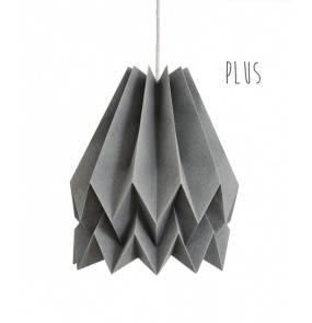 Lampa wisząca Plus Alpine Grey Orikomi ciemnoszara oprawa w dekoracyjnym stylu