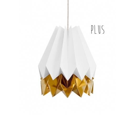 Lampa wisząca Plus Polar White/Warm Gold Orikomi biało-złota oprawa w dekoracyjnym stylu