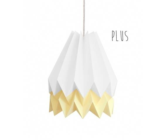 Lampa wisząca Plus Polar White/Pale Yellow Orikomi biało-żółta oprawa w dekoracyjnym stylu