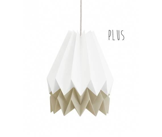 Lampa wisząca Plus Polar White/Light Taupe Orikomi dwukolorowa oprawa w dekoracyjnym stylu