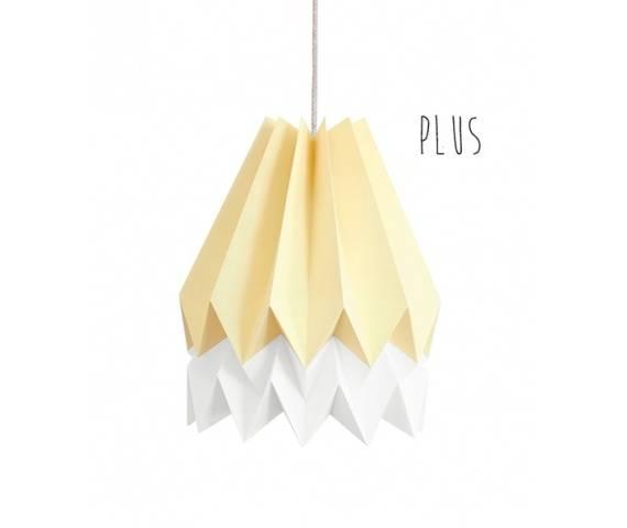 Lampa wisząca Plus Pale Yellow/Polar White Orikomi żółto-biała oprawa w dekoracyjnym stylu