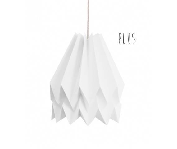 Lampa wisząca Plus Polar White Orikomi jednolicie biała oprawa w dekoracyjnym stylu