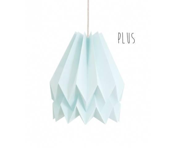 Lampa wisząca Plus Mint Blue Orikomi jednolicie niebieska oprawa w dekoracyjnym stylu