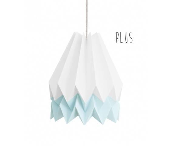Lampa wisząca Plus Polar White/Mint Blue Orikomi biało-niebieska oprawa w dekoracyjnym stylu