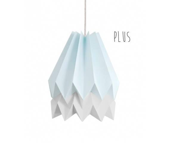 Lampa wisząca Plus Mint Blue/Light Grey Orikomi niebiesko-szara oprawa w dekoracyjnym stylu