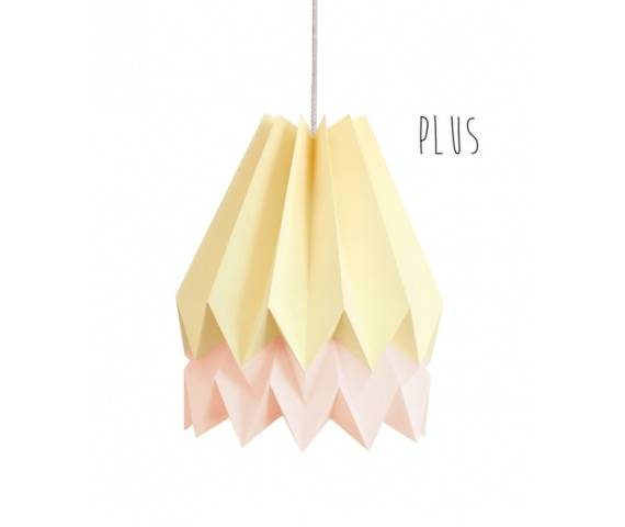 Lampa wisząca Plus Pale Yellow/Pastel Pink Orikomi żółto-różowa oprawa w dekoracyjnym stylu