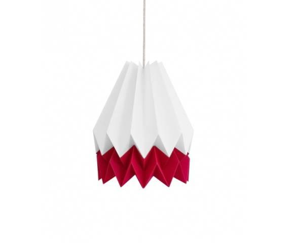 Lampa wisząca Summer Strawberry Stripe Orikomi biało-czerwona oprawa w nowoczesnym stylu