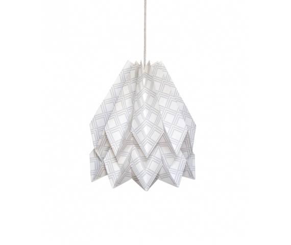 Lampa wisząca Kayapó Light Grey Orikomi dekoracyjna oprawa w kolorze szarym
