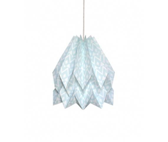 Lampa wisząca Tupi Mint Blue Orikomi dekoracyjna oprawa w kolorze miętowym