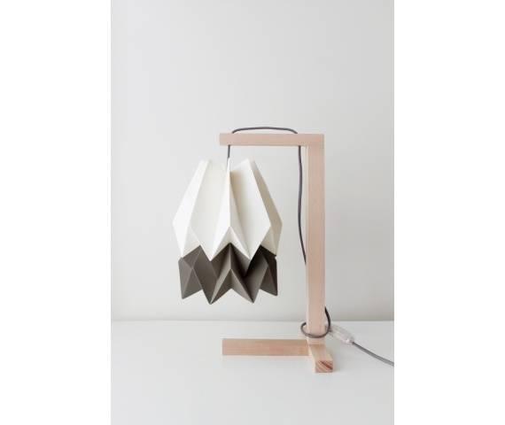 Lampa stołowa Table Polar White/Alpine Grey Orikomi minimalistyczna oprawa w nowoczesnym stylu
