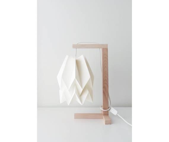 Lampa stołowa Table Polar White Orikomi biała oprawa w nowoczesnym stylu