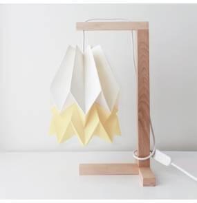 Lampa stołowa Table Polar White/Pale Yellow Orikomi biało-żółta oprawa w minimalistycznym stylu