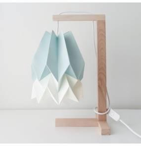 Lampa stołowa Table Mint Blue/Polar White Orikomi niebiesko-biała oprawa w minimalistycznym stylu