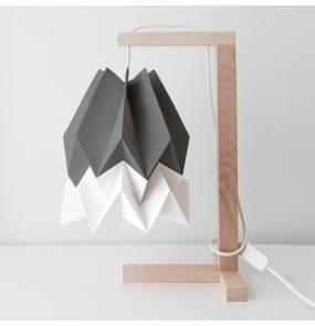 Lampa stołowa Table Alpine Grey/Polar White Orikomi szaro-biała oprawa w minimalistycznym stylu