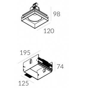 Rama montażowa do lampy Solid Lightbox WP 135.1 4.2106 Labra