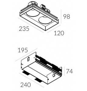 Rama montażowa do lampy Solid Lightbox WP 135.2 4.2107 Labra