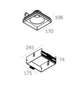 Rama montażowa do lampy Solid Lightbox WP 185.1 4.2108 Labra