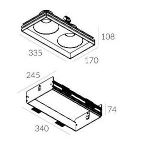 Rama montażowa do lampy Solid Lightbox WP 185.2 4.2109 Labra