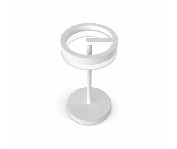 Lampa stołowa Circular PS-203 Pujol Iluminacion nowoczesna oprawa w kolorze białym
