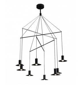 Lampa wisząca Hat 8 LP-1661/3P BK Light Prestige czarna nowoczesna lampa wisząca