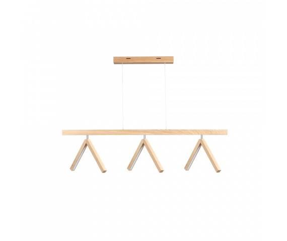 Lampa wisząca Silas 5187374 SPOTLight Premium Collection dekoracyjna oprawa z drewna dębowego