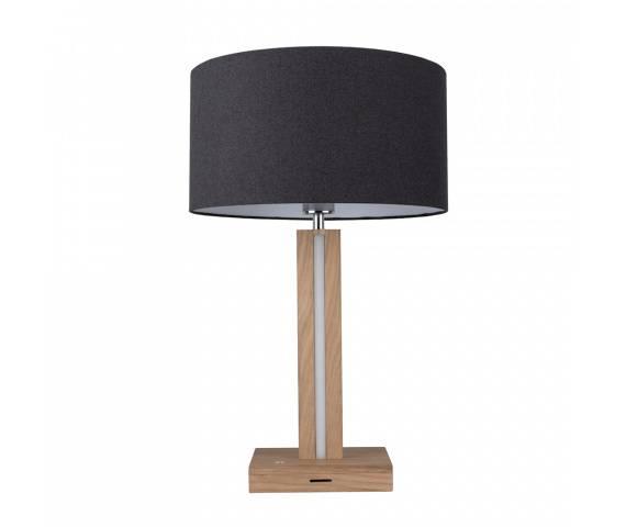 Lampa stołowa Asseto 7573174 SPOTLight Premium Collection czarna oprawa w nowoczesnym stylu