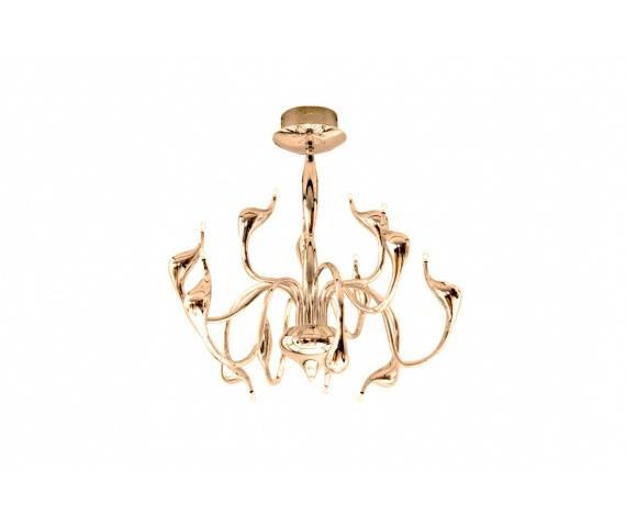 Lampa wisząca Snake AZ2568 AZzardo dekoracyjna oprawa w kolorze złotym