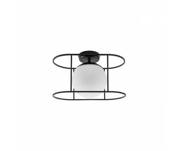 Plafon minimalistyczny Kuglo A KUA12000 oprawa sufitowa czarno-biała UMMO