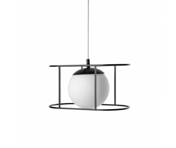 Lampa wisząca w styli minimalistycznym Kuglo B KUB121B0 oprawa wisząca czarno-biała UMMO