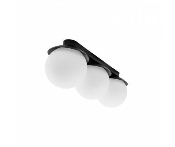 Plafon potrójny w minimalistycznym stylu Kuul B KLB32000 oprawa sufitowa czarno-biała UMMO