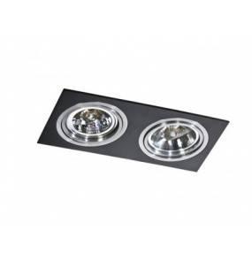 Oczko stropowe Siro 2 AZ0772 AZzardo prostokątna oprawa w kolorze czarnym