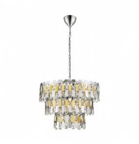 Lampa wisząca Anzio P0480-04A-F4D7 Zuma Line chromowo-złota oprawa w nowoczesnym stylu