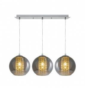 Lampa wisząca Ivia P12082D-3 Zuma Line potrójna oprawa w dekoracyjnym stylu