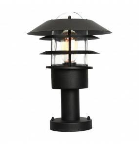 Lampa stojąca zewnętrzna Helsingor PED BK Elstead Lighting czarna oprawa w nowoczesnym stylu