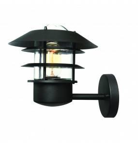 Kinkiet zewnętrzny Helsingor Elstead Lighting czarna oprawa w nowoczesnym stylu