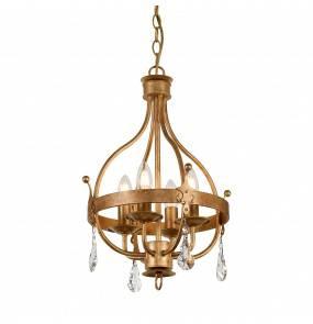 Lampa wisząca Windsor 4 GP Elstead Lighting klasyczna oprawa w kolorze złotej patyny