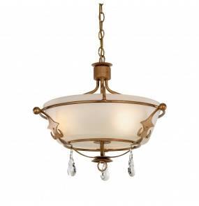 Lampa wisząca Windsor SF GP Elstead Lighting klasyczna oprawa w kolorze złotej patyny