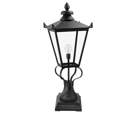 Lampa stojąca zewnętrzna Wilmslow WSLN1 Elstead Lighting czarna oprawa stojąca w klasycznym stylu