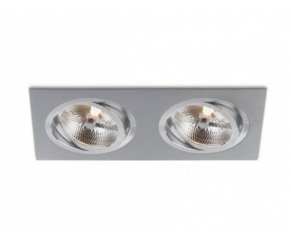 Oczko stropowe Catli 2xAR111 biała prostokątna oprawa wpuszczana BPM Lighting