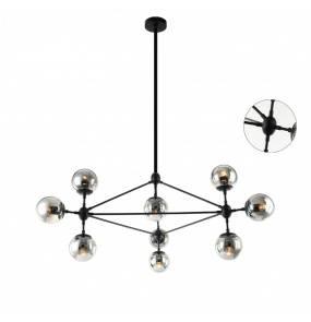 Lampa wisząca Bao Nero Fume Orlicki Design czarna oprawa w dekoracyjnym stylu