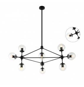 Lampa wisząca Bao Nero Clear Orlicki Design czarna oprawa w dekoracyjnym stylu